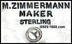 M. Zimmermann, maker, sterling