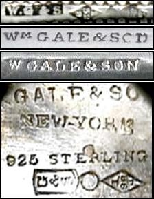 American Silver Marks Initials W