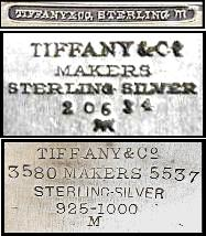 Tiffany & Co, makers, sterling silver