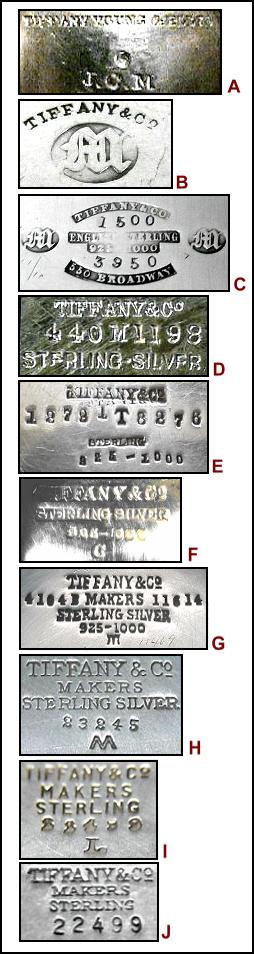 dating tiffany silver marks