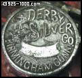 Derby Silver Co., Birmingham, crown, anchor