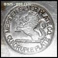 Meriden Silver Plate Co., lion, quadruple plate