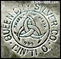 Queen City Silver Co., Cin'ti O, trade mark, 999