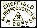 R, triangle, SP Copper, Sheffield Reproduction