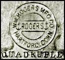 Wm. Rogers Mfg. Co., Hartford Conn, quadruple, anchors