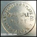 Van Bergh Silver Plate Co., Rochester NY, quadruple plate