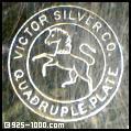 Victor Silver Co., quadruple plate, horse, unicorn