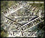 Warren Silver Plate Co., New York, quadruple plate