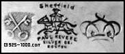 crossed keys, horse rider, crown, sheffield, Paul Revere Siver Co, Boston