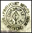 Pairpoint Mfg. Co., P, diamond, quadruple plate, New Bedford, Mass.