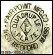 Pairpoint Mfg. Co., P, diamond, quadruple plate, New Bedford, Mass.