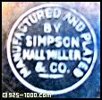 Manufactured and Plated by Simpson, Hall, Miller & Co.