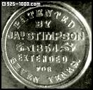 Patented by Jas. Stimpson, 1854