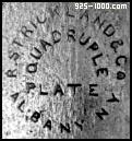 R. Strickland & Co., Albany NY, quadruple plate