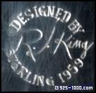 Robert J. King sterling silver