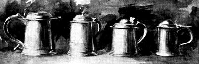 PLATE I. - AMERICAN AND ENGLISH TANKARDS