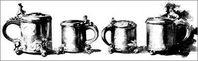Plate VI. - Norwegian Tankards