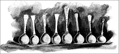 Plate XII. - Norwegian Silver Spoons