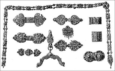 Plate XVII. - Old continental silver clasps