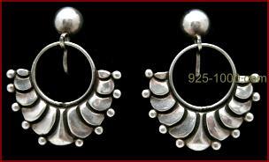 Margot Van Vorhees Carr Jewelry Sterling Earrings